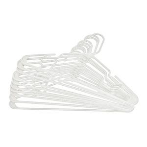 Other - Pack of 50 Adult White Notched Plastic Hangers